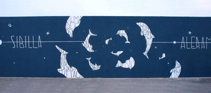 """Opiemme, """"Dolphins"""", Tribute to Sibilla Aleramo, Civitanova Marche, Italy, source: http://opiemme.com"""